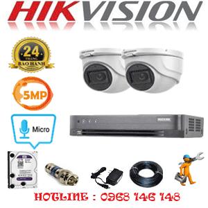 TRỌN BỘ 2 CAMERA HIKVISION 5.0MP (HIK-522500)-HIK-522500