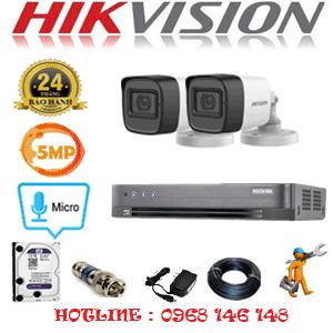 Lắp Đặt Trọn Bộ 2 Camera Hikvision 5.0Mp (Hik-522600)-HIK-522600