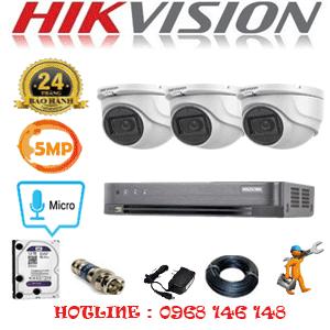 TRỌN BỘ 3 CAMERA HIKVISION 5.0MP (HIK-532500)-HIK-532500