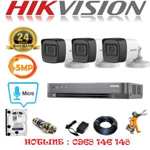 TRỌN BỘ 3 CAMERA HIKVISION 5.0MP (HIK-532600)-HIK-532600