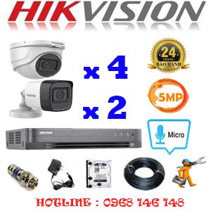 TRỌN BỘ 6 CAMERA HIKVISION 5.0MP (HIK-5425226)-HIK-5425226
