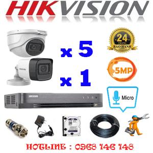 TRỌN BỘ 6 CAMERA HIKVISION 5.0MP (HIK-5525126)-HIK-5525126