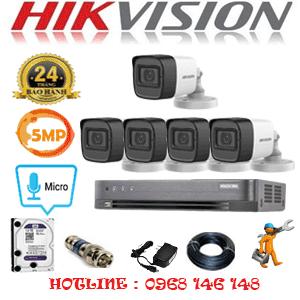 Lắp Đặt Trọn Bộ 5 Camera Hikvision 5.0Mp (Hik-552600)-HIK-552600