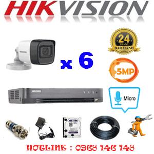 TRỌN BỘ 6 CAMERA HIKVISION 5.0MP (HIK-562600)-HIK-562600