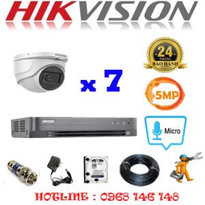 TRỌN BỘ 7 CAMERA HIKVISION 5.0MP (HIK-572500)-HIK-572500