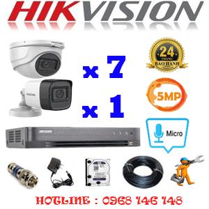 TRỌN BỘ 8 CAMERA HIKVISION 5.0MP (HIK-5725126)-HIK-5725126