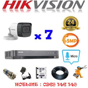 TRỌN BỘ 7 CAMERA HIKVISION 5.0MP (HIK-572600)-HIK-572600