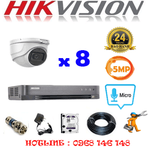 TRỌN BỘ 8 CAMERA HIKVISION 5.0MP (HIK-582500)-HIK-582500