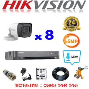 TRỌN BỘ 8 CAMERA HIKVISION 5.0MP (HIK-582600)-HIK-582600