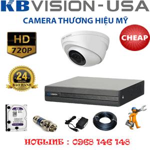 Lắp Đặt Trọn Bộ 1 Camera Kbvison 1.0Mp (Kb-11100)-KB-11100C