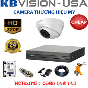 TRỌN BỘ 1 CAMERA KBVISON 1.0MP (KB-11100)-KB-11100C