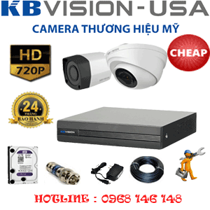 Lắp Đặt Trọn Bộ 2 Camera Kbvison 1.0Mp (Kb-11112)-KB-11112C