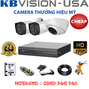 TRỌN BỘ 3 CAMERA KBVISON 1.0MP (KB-11122)-KB-11122C