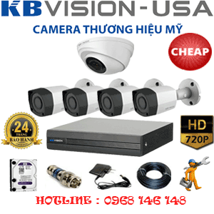 TRỌN BỘ 5 CAMERA KBVISION 1.0MP (KB-11142)-KB-11142C