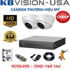 TRỌN BỘ 2 CAMERA KBVISON 1.0MP (KB-12100)-KB-12100C