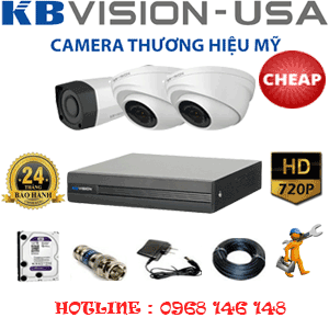 Lắp Đặt Trọn Bộ 3 Camera Kbvison 1.0Mp (Kb-12112)-KB-12112C