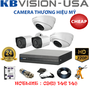 TRỌN BỘ 4 CAMERA KBVISON 1.0MP (KB-12122)-KB-12122C