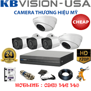 TRỌN BỘ 5 CAMERA KBVISION 1.0MP (KB-12132)-KB-12132C