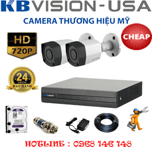 Trọn Bộ 2 Camera Kbvison 1.0Mp (Kb-12200)-KB-12200C