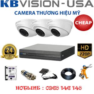 Lắp Đặt Trọn Bộ 3 Camera Kbvison 1.0Mp (Kb-13100)-KB-13100C