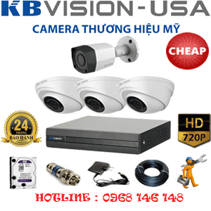 TRỌN BỘ 4 CAMERA KBVISON 1.0MP (KB-13112)-KB-13112C