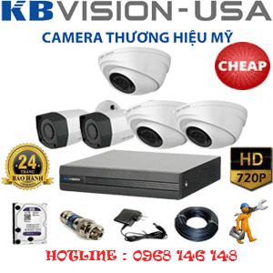 TRỌN BỘ 5 CAMERA KBVISION 1.0MP (KB-13122)-KB-13122C