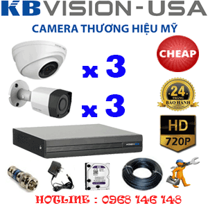 TRỌN BỘ 6 CAMERA KBVISION 1.0MP (KB-13132)-KB-13132C