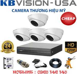 TRỌN BỘ 4 CAMERA KBVISON 1.0MP (KB-14100)-KB-14100C
