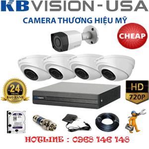 Lắp Đặt Trọn Bộ 5 Camera Kbvision 1.0Mp (Kb-14112)-KB-14112C