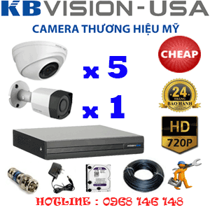 TRỌN BỘ 6 CAMERA KBVISION 1.0MP (KB-15112)-KB-15112C
