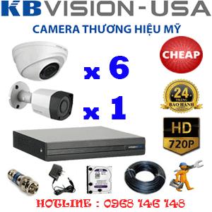 Lắp Đặt Trọn Bộ 7 Camera Kbvision 1.0Mp (Kb-16112)-KB-16112C