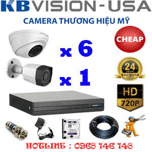TRỌN BỘ 7 CAMERA KBVISION 1.0MP (KB-16112)-KB-16112C