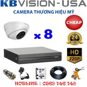 Lắp Đặt Trọn Bộ 8 Camera Kbvison 1.0Mp (Kbv-18100)-KB-18100C