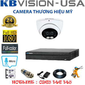 TRỌN BỘ 1 CAMERA KBVISION 2.0MP (KB-211500)-KB-211500