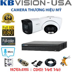 Lắp Đặt Trọn Bộ 2 Camera Kbvision 2.0Mp (Kb-2115116)-KB-2115116