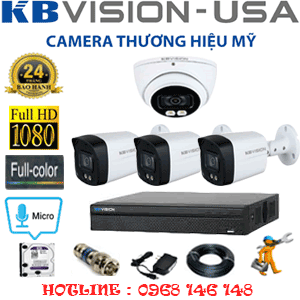 TRỌN BỘ 4 CAMERA KBVISION 2.0MP (KB-2115316)-KB-2115316