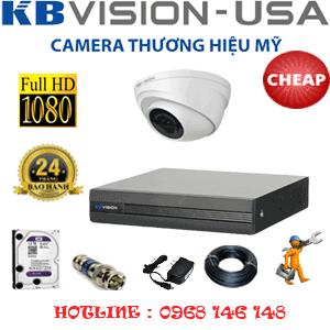 Lắp Đặt Trọn Bộ 1 Camera Kbvison 2.0Mp (Kb-21300)-KB-21300C