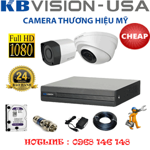 Lắp Đặt Trọn Bộ 2 Camera Kbvison 2.0Mp (Kb-21314)-KB-21314C