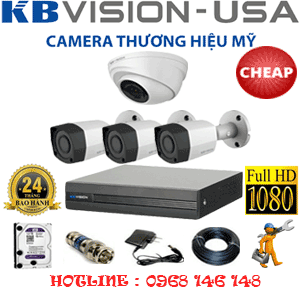 TRỌN BỘ 4 CAMERA KBVISON 2.0MP (KB-21334)-KB-21334C