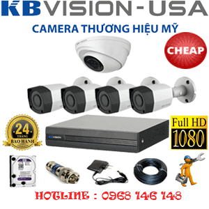 TRỌN BỘ 5 CAMERA KBVISION 2.0MP (KB-21344)-KB-21344C