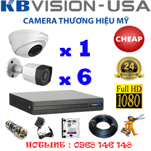 TRỌN BỘ 7 CAMERA KBVISION 2.0MP (KB-21364)-KB-21364C