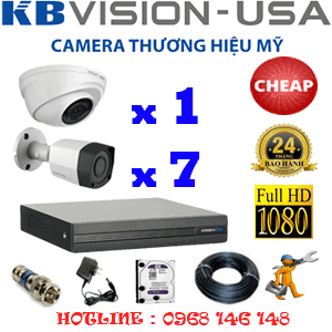 TRỌN BỘ 8 CAMERA KBVISION 2.0MP (KB-21374)-KB-21374C