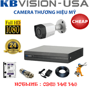 TRỌN BỘ 1 CAMERA KBVISON 2.0MP (KB-21400)-KB-21400C