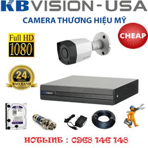 Lắp Đặt Trọn Bộ 1 Camera Kbvison 2.0Mp (Kb-21400)-KB-21400C