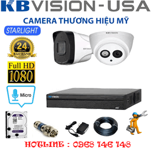 TRỌN BỘ 2 CAMERA KBVISION 2.0MP (KB-21718)-KB-21718