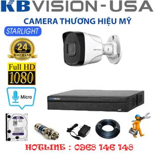 TRỌN BỘ 1 CAMERA KBVISION 2.0MP (KB-21800)-KB-21800