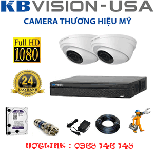 TRỌN BỘ 2 CAMERA KBVISON 2.0MP (KB-221100)-KB-221100