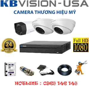 TRỌN BỘ 3 CAMERA KBVISON 2.0MP (KB-2211112)-KB-2211112