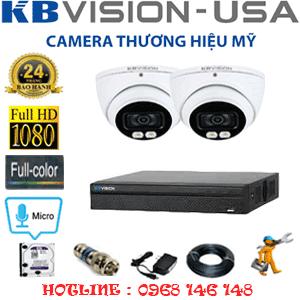 TRỌN BỘ 2 CAMERA KBVISION 2.0MP (KB-221500)-KB-221500