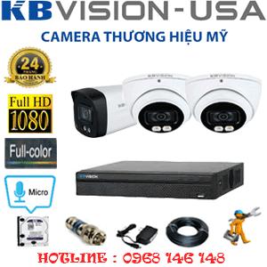 Lắp Đặt Trọn Bộ 3 Camera Kbvision 2.0Mp (Kb-2215116)-KB-2215116